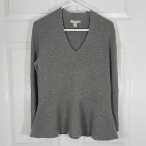 Banana Republic Italian Yarn Peplum Sweater